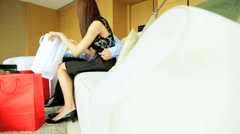 Ethnic Asian Chinese Couple Luxury Hotel Exclusive Retail Shopping - stock footage