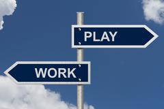 Work versus play Stock Illustration