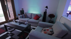 House party time lapse - Lounge and dining room Stock Footage