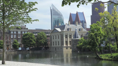 The Hague, The Netherlands, Hofvijver Stock Footage