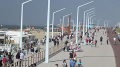 Scheveningen boulevard, The Netherlands, - stock footage