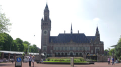 The Hague, The Netherlands, international court of justice, peace palace, Locked Stock Footage