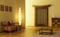 Chinese style lounge room Stock Photos