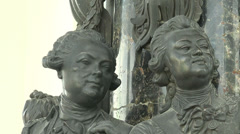 The bas-relief of the monument to Catherine II Stock Footage