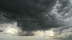 Dark storm clouds before rain Stock Footage