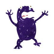 Cartoon poisonous frog Stock Illustration
