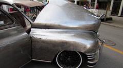 Old vintage Packard car Stock Footage