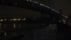 Bridge at Night, Pedestrian Bridges, Foot Bridges Stock Footage