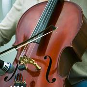 Сello and the violin bow Stock Photos