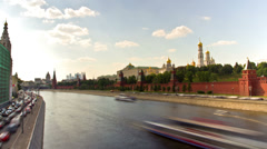 MOSCOW, RUSSIA: St Basil's Cathedral. Kremlin, Red Square in Moscow, Russia. Stock Footage