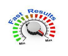 3d knob - fast results - stock illustration