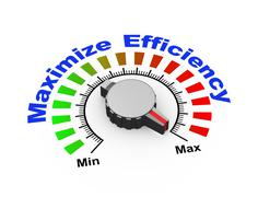 3d knob - maximize efficiency - stock illustration