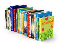 Color hardcover books Stock Illustration