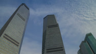 Stock Video Footage of Sky reflection on skyscraper timelapse 4K