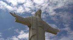 Time lapse fromStatue El cristo in Cochabamba Stock Footage