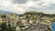 Stock Video Footage of Acropolis Parthenon view on cloudy day, 2nd version, Athens, Greece - Timelapse
