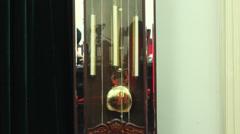 Pendulum of the clock Stock Footage