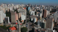 Timelapse, View of the city. Sao Paulo, Brazil. Tilt shift Footage