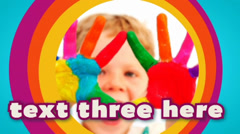 Clean Colorful Kids Photo Video Slideshow & Text Titles Bubble Screen HD Gallery Stock After Effects