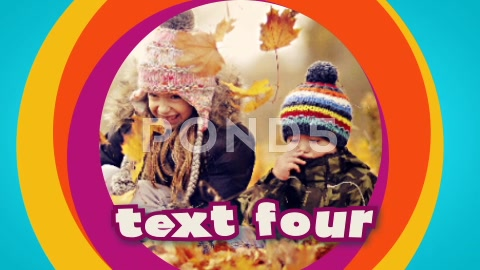 After Effects Project - Pond5 Clean Colorful Kids Photo Video Slideshow & T ...