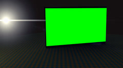 HD Green Screen with back light flare and check-board floor - stock footage