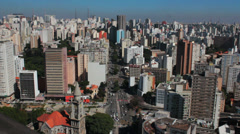 Timelapse, View of the city. Sao Paulo, Brazil. Time lapse. Stock Footage