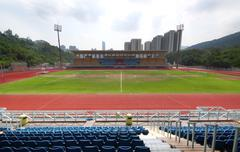 Track Lanes and Stadium Stock Photos
