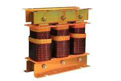 three-phase transformer - stock photo