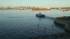 Burrard Inlet, Morning Seabus Departure Stock Footage