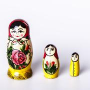 Russian Dolls Matryoshka Isolated on a white background - stock photo