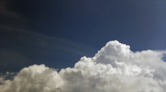 White puffy cumulus Stock Footage