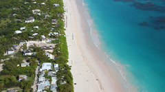 Pink Sand Beach, at Harbor Island, Bahamas Stock Footage