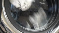 Laundry Machine, Washing Clothes, Clothing Stock Footage