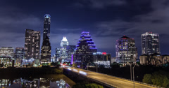 Austin Texas Skyline Time-Lapse Stock Footage