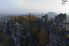Bastei rock - stock photo