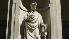 Dante alighieri statue tilt Stock Footage
