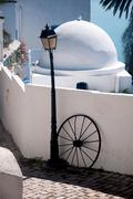 Original architectural style of houses of a city sidi bou said, tunis Stock Photos