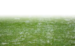 Snow on soccer pitch with white gradient Stock Illustration