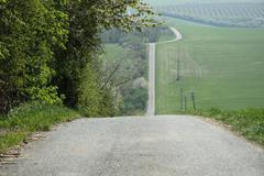 Road to nowhere - stock photo