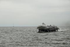 Hydrofoil, boat - stock photo