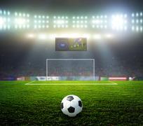 Starting a football match Stock Photos