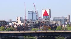 CITGO Sign in Boston Stock Footage
