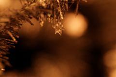 Tinsel. Christmas decoration. - stock photo