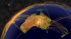 Air travel in Australia Stock Photos