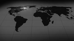 colorless abstract bakground world line different rendering - stock footage