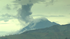 Stock Video Footage of Ash cloud rises from Tunguragua Volcano