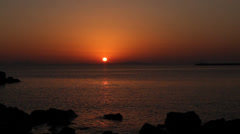 Naxos, Greece Sunset2 - stock footage