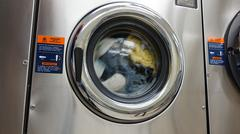 Stock Photo of Laundry Machine, Washing Clothes, Clothing