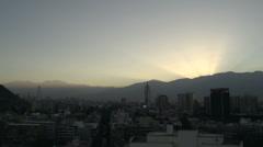 Santiago de Chile sunrise time lapse Stock Footage