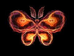 Virtual Butterfly - stock illustration